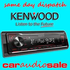 KENWOOD KMM-BT204 MECHLESS MP3 USB BLUETOOTH ANDROID APPLE CHEAP CAR VAN STEREO