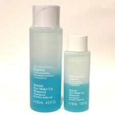 CLARINS Set of 2 Instant Eye Make-Up Remover Waterproof & Heavy 125ml & 50ml UNB