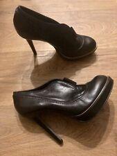 Carvela Black Leather Platform Ankle Boots UK7 EU40