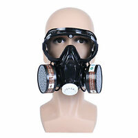 Gas Protection Filter Chemical Half Face Respirator  Eye Goggle