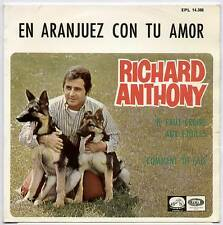 "RICHARD ANTHONY ~ EN ARANJUEZ CON TU AMOR ~ 1967 SPANISH 3-TRACK 7"" EP + P/S"