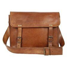 Handmade Real Leather Men Briefcase Messenger Large Vintage Shoulder Laptop Bag