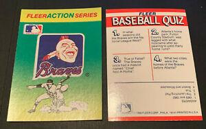 1990 Fleer Baseball Sticker Card Atlanta Braves Vintage Chief Noc-A-Homa Logo