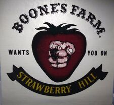 """Vintage 1970's Iron-On Transfer """"Boone's Farm Wants You On Strawberry Hill"""""""
