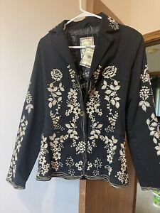 Paparazzi  by Biz Sport Women's Size XL Embroidered Floral Coat Jacket