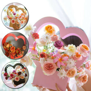1PC Wedding Florist Gift Packing Heart Shape Flower Box Party Creative Boxes new