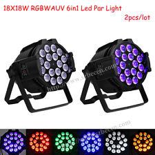 2pcs NEW 18x18w 6in1 led par can light RGBWA UV par led dj stage light 7/9CH