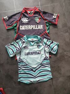 Leicester tigers rugby shirt bundle age 10 and 12