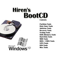 Hiren's Boot CD USB Windows XP 7 8 vista 10 boot repair recovery antivirus fix