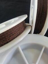 (1) Walnut & Black Spec Genuine Irish Linen Single Pool Billiard Cue Wrap Spool
