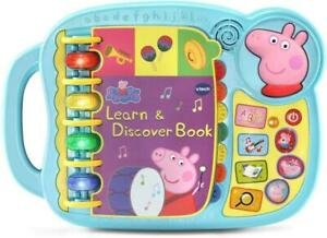 Peppa Pig Book Learn VTech Toy Kids Toddler Sounds Interactive Boy Girl Gift New