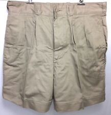 French Foreign Legion Vintage Khaki Tropical Shorts Size 32 waist