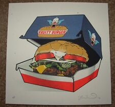 THE SIMPSONS poster print Mmmmmmmm! KRUSTY BURGER fictional food Joshua Budich
