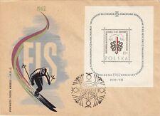 Poland FDC 1962 World Ski Championships, SS & 2 Combo Covers!