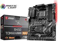 MSI B450 TOMAHAWK MAX ATX Motherboard MB4822 Mystic Light PC Item AMD ATX New JP