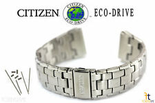 Citizen Eco-Drive 4-S022240 Stainless Steel Watch Band Strap 4-S063418 w/ Pins