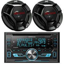 Kenwood Car 2Din Bluetooth iPod AUX USB CD Radio, 2 JVC Black 6.5