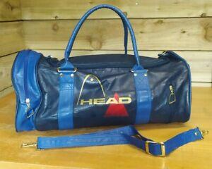 Vintage - Head - Holdall Sports Weekend Travel Bag Blue RARE Retro 80s 90s