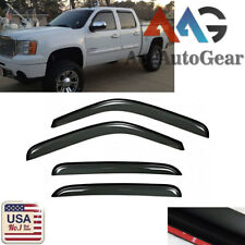Window Visor Vent Shade Rain Sun Wind Guard Smoke For 2007-2013 Chevy Avalanche