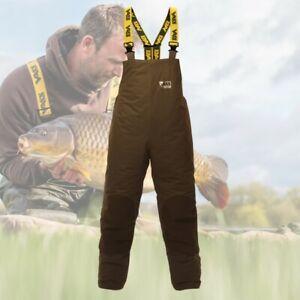 Vass 175 Winter Khaki Bib & Braces * Waterproof Winter Fishing Clothing *