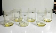 6 Holmegaard FUTURE by Svarrer Danish 8.5 Oz Sunny Yellow Tumblers NEW ~ Marked