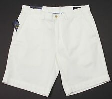 "Men's POLO RALPH LAUREN White Twill Chino Shorts 34 NWT NEW Classic Fit 9"" -2001"