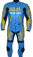 SUZUKI RIZLA MOTORCYCLE LEATHER SUIT MEN RACING MOTORBIKE LEATHER JACKET TROUSER