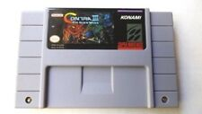 Contra III 3 The Alien War SNES Super Nintendo Game cart NTSC PERFECT ALL TESTED