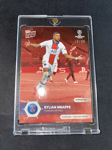 Kylian Mbappe Topps Now UCL 041 Red Parallel 49/99 - Stunning Hat-Trick