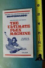 The Ultimate Flex Machine Australia Skate Film Z16 Vintage Skateboarding STICKER