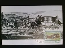 UNGARN MK 1977 PFERDEKUTSCHE PFERD HORSE MAXIMUMKARTE MAXIMUM CARD MC CM c7019