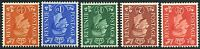1950 KGVI New Colours ½d-2½d Watermark Inverted Set SG 503Wi-507Wi