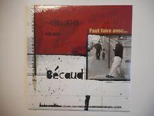 BECAUD : FAUT FAIRE AVEC [ CD SINGLE NEUF PORT GRATUIT ]