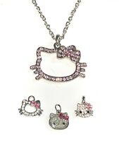 Hello Kitty Necklace and 3 Pendants Charms