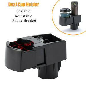 Adjust Car Scalable Universal Dual Cup Holder Drink Ashtray Mobile Phone Bracket