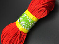 3mm Nylon Satin Chinese Knot Cord Macrame Rattail Braided Thread  Red