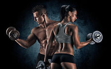 "Poster 24"" x 36"" Fitness Couple"
