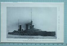 1914 WW1 PRINT WARSHIP HMS QUEEN MARY