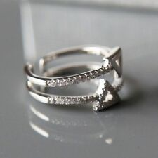 Sterling silver Double Triangle Ring by Lepos Jewellery