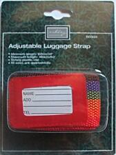 Adjustable luggage strap with strong clip, multicoloured, travel, holiday, new