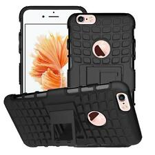 Shockproof Hybrid Back Case Cover + Tempered Glass Protector For Apple iPhones