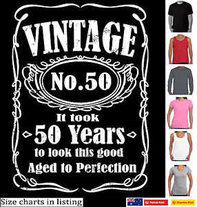 50th Birthday T SHIRT 1971 Vintage age to perfection 50 years old Funny TShirts