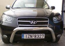 FIT HYUNDAI SANTA FE 2007-2012 BULL BAR NUDGE A-BAR LOW STAINLESS STEEL 76mm