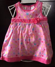 Toddler girls summer Polka dot dress & bloomer Set Sz. 12mths $28