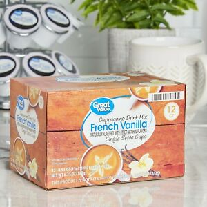 ON SALE~~Great Value French Vanilla Cappuccino Mix Coffee Pods/K-cups, 12 Count
