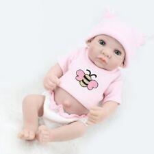 "Handmade Lifelike Baby Dolls Newborn Preemie 10"" Full Vinyl Silicone Girl Doll"