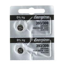 2 Pk Energizer 393 309 SR754 LR754 SR48 LR48 AG5 193 V393 D393 RW28 S15 Battery