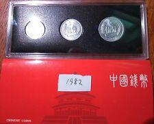 China 1982 year 1 Fen+2 Fen+5 Fen coins set 3PCS