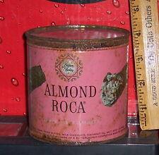 Vintage Brown & Haley Almond Roca Tin 9 oz size - Keywind Style w/Lid
