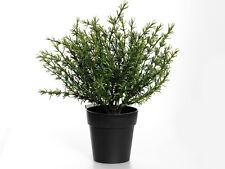 Planta artificial en maceta tomillo 25cm-planta de hierba de plástico decorativo en negro Olla